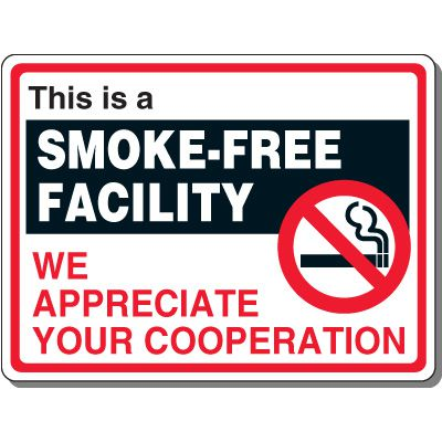 Heavy-Duty Smoking Signs - This Is A Smoke-Free Facility