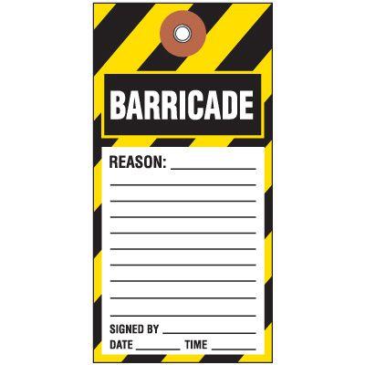 Barricade Tyvek Tag