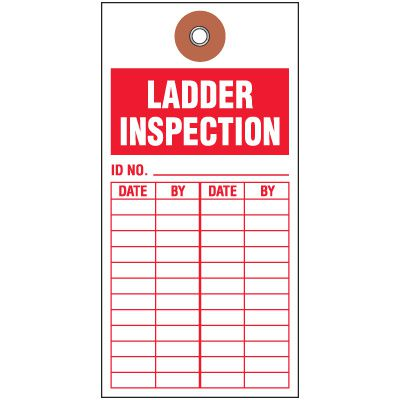 Ladder Inspection Tyvek Tag