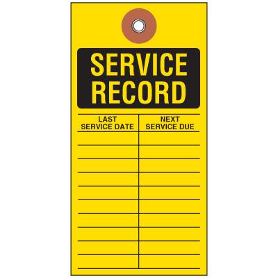 Service Record Tyvek Tag
