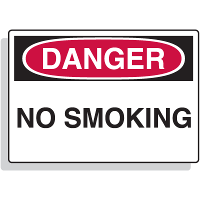 Fiberglass OSHA Sign - Danger - No Smoking