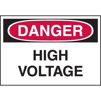 Danger Labels - High Voltage (Text Only)
