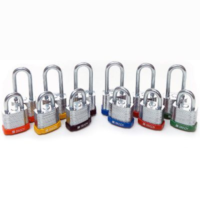 Brady® High Performance Steel Padlocks- Keyed Differently