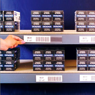 Holdex Shelf Labels and Holders