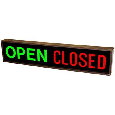 Horizontal Open - Closed Backlit LED Sign