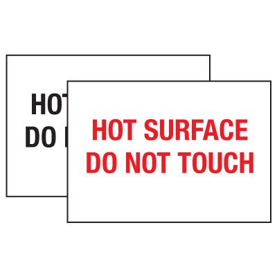 Hot Adhesion Labels - Hot Surface Do Not Touch