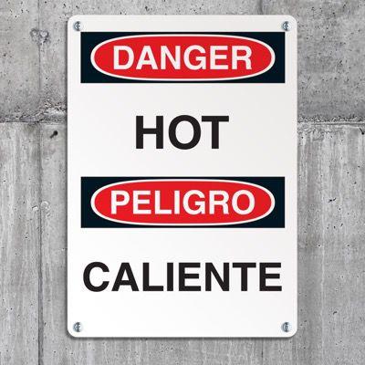 Hot Work Signs - Danger Hot (Bilingual)