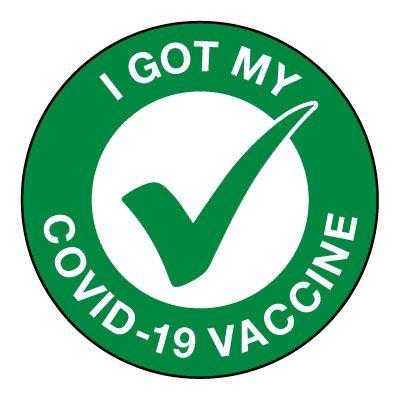 I Got My COVID-19 Vaccine Hard Hat Label