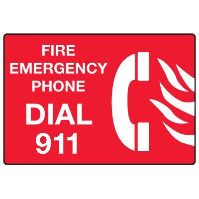 In Case of Emergency Signs - Emergency Dial 911