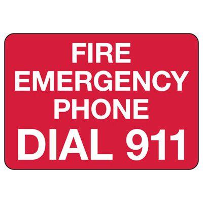 In Case Of Emergency Signs - Fire Emergency