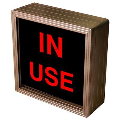 In Use Backlit LED Sign