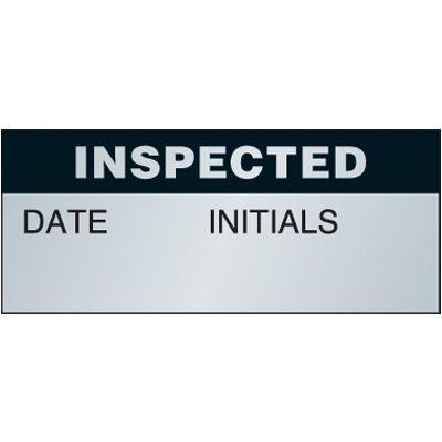 Inspected Aluminum Status Label