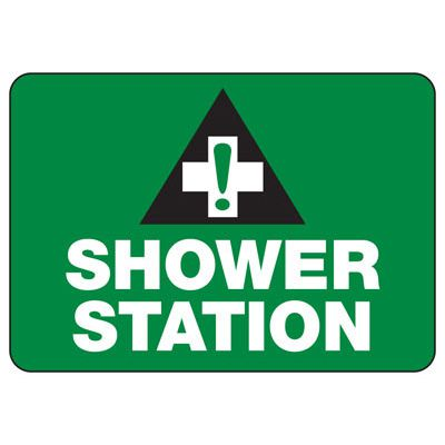 Shower Station - First Aid Sign