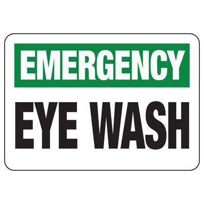 Emergency Eye Wash - First Aid Sign