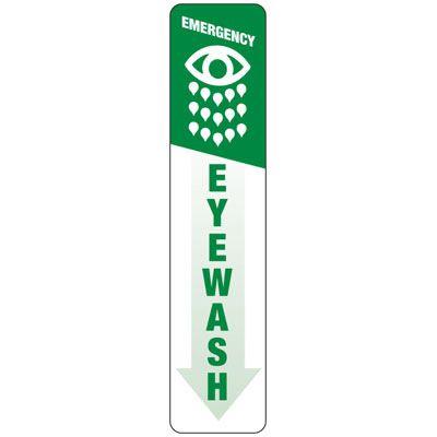 Emergency Eyewash (Graphic) - Industrial First Aid Signs