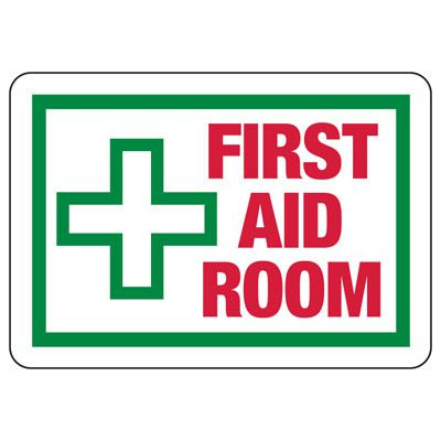 First Aid Room - First Aid Signs