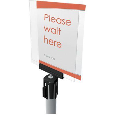 Tensabarrier Stanchion - Acrylic Display PSH1-HDSC-33