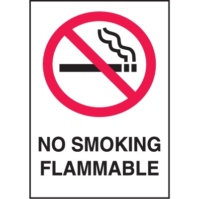 Graphic No Smoking Signs - No Smoking Flammable