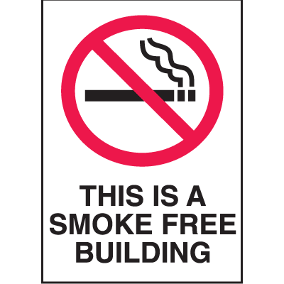 Graphic No Smoking Signs - This Is A Smoke Free Building