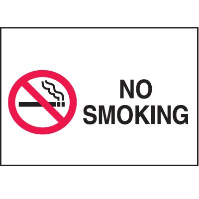 No Smoking Signs - Aluminum, Plastic or Vinyl (w/Graphic)