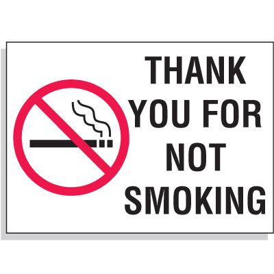 Custom Industrial Graphic No Smoking Signs