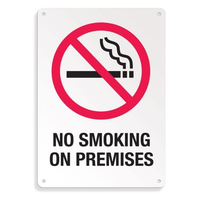 Graphic No Smoking Signs - No Smoking On Premises