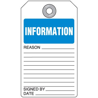 Information - Self-Laminating Accident Prevention Tag