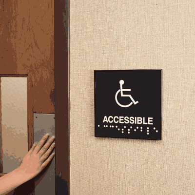 Accessible Braille Signs - Injection Molded Signs