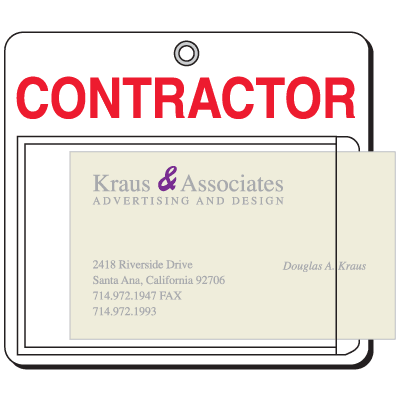 Insert-A-Card Badge Holders - Contractor