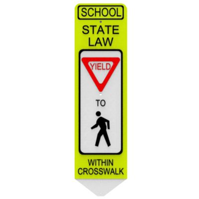 School State Law In-Street Pedestrian (Symbol) Crosswalk Signs