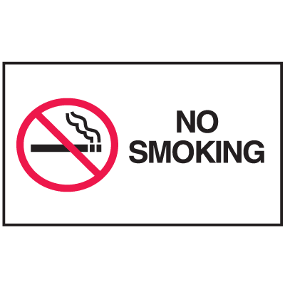 Instructional Labels - No Smoking