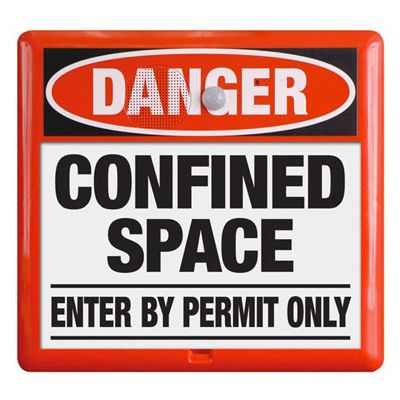 Interactive Sign Insert - Confined Space