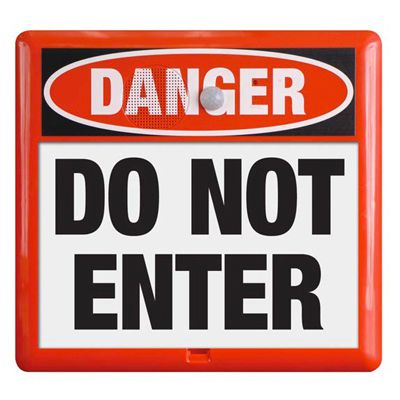 Interactive Sign Insert - Do Not Enter
