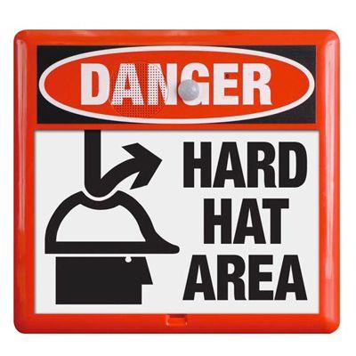 Interactive Sign Insert - Hard Hat Area