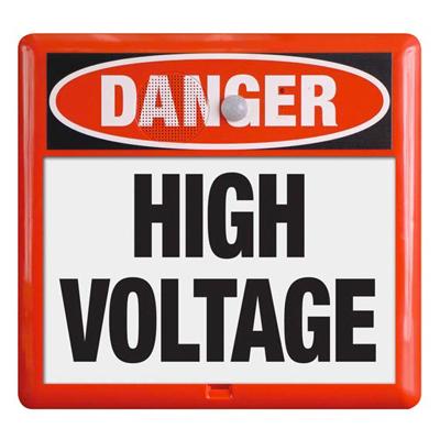 Interactive Sign Insert - High Voltage