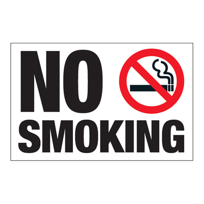Interactive Sign Insert - No Smoking