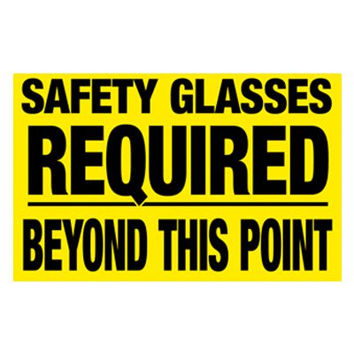 Interactive Sign Insert - Safety Glasses Required