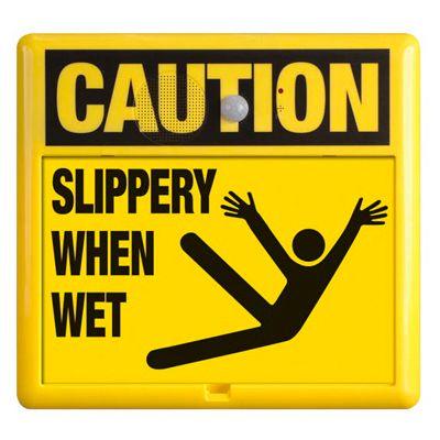 Interactive Sign Insert - Slippery When Wet