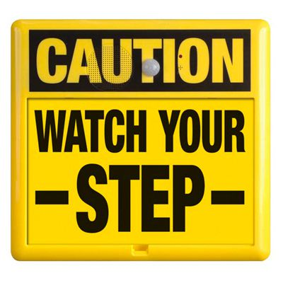 Interactive Sign Insert - Watch Your Step