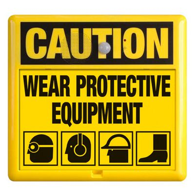 Interactive Sign Insert - Wear Protective Equipment
