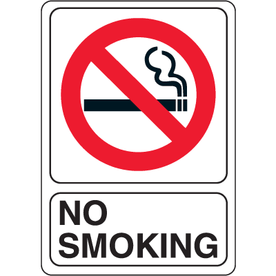 No Smoking Signs - 7W x 10H Interior Signs