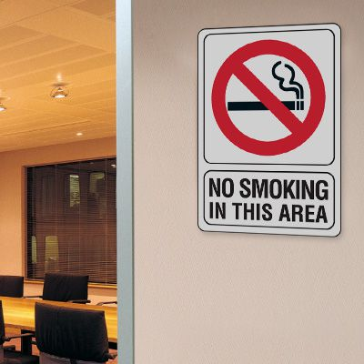 No Smoking In This Area - 7W x 10H Interior Signs