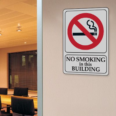 No Smoking In This Building - 7W x 10H Interior Signs
