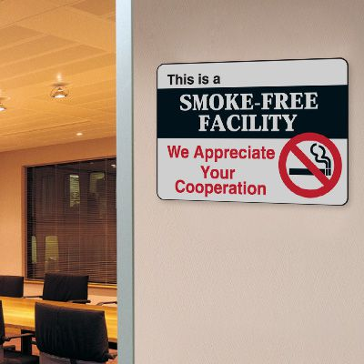 This Is A Smoke-Free Facility - 10W x 7H Interior Signs