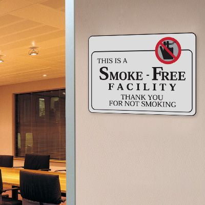 This Is A Smoke-Free Facility - 10W x 7H Decor Signs