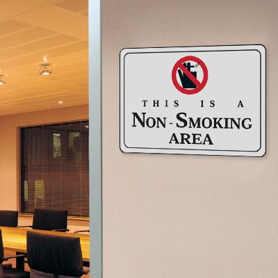 This Is A Non-Smoking Area - 10W x 7H Decor Signs