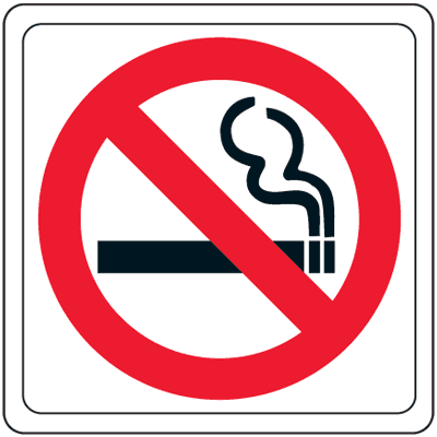 No Smoking (Graphic Only) - 4W x 4H Decor Signs