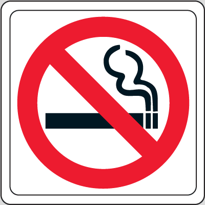 No Smoking (Graphic Only) - 6W x 6H Decor Signs