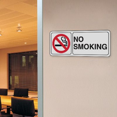 No Smoking w/Graphic - 10W x 4H Decor Signs