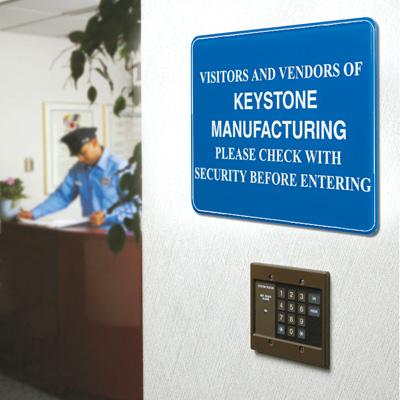 Custom Interior Décor Security Signs